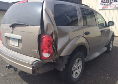 damaged SUV